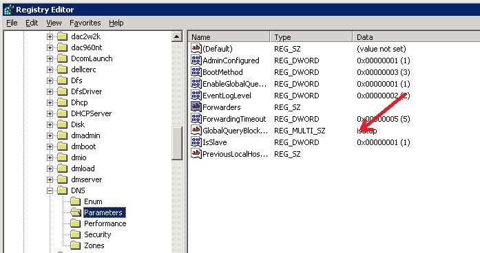 Registry Fix for Implementation of WPAD